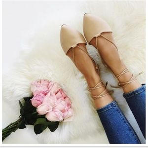Shoes - Lace Up Ballet Flats